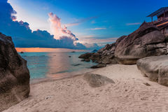 Tropical beach at sunset. Stock Photography