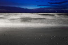 Tropical beach after sunset in beach lights. Nature background royalty free stock photo