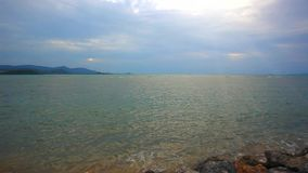 Tropical beach Sunset Sky With Lighted Clouds in. Koh Samui. Thailand. 1920x1080 stock video footage