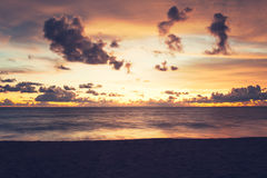 Tropical beach sunset Royalty Free Stock Photography