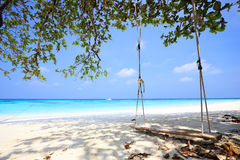 Tropical beach at Tachai Island Stock Image