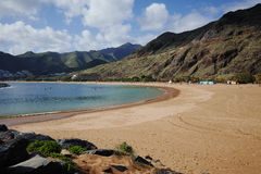 Tropical beach Teresitas, Tenerife, Canary Islands in winter Stock Images