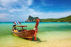 Tropical beach Thailand. Tropical beach, Phi-Phi Islands, Andaman Sea, Thailand