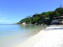 Tropical beach, Thailand. Haad Rin beach in Koh Phangan, Thailand Royalty Free Stock Photography