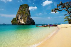 Tropical beach, Thailand. Tropical beach, Andaman Sea, Thailand Royalty Free Stock Photography