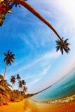 Tropical beach, Thailand. Tropical beach, Mak island, Thailand, fisheye shot Stock Photography