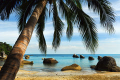 Tropical beach, Thailand. Beautiful tropical beach in Thailand Royalty Free Stock Photos