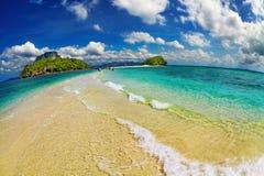Tropical beach, Thailand. Tropical beach, Andaman Sea, Thailand, fisheye shot Royalty Free Stock Photos