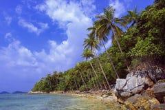 Tropical beach. Thailand, Koh Samui island. Royalty Free Stock Photo