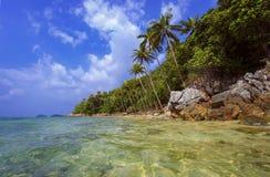 Tropical beach. Thailand, Koh Samui island. Stock Photos