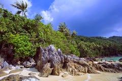 Tropical beach. Thailand, Koh Samui island. Royalty Free Stock Photography