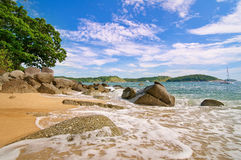 Tropical beach in Thailand. Royalty Free Stock Images