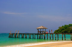 Tropical beach in Thailand. Summer Tropical beach in Thailand Royalty Free Stock Photo