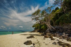 Tropical beach in Thailand. Travel Royalty Free Stock Images