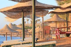 Tropical beach to Charm el sheikh, Egipt Royalty Free Stock Images