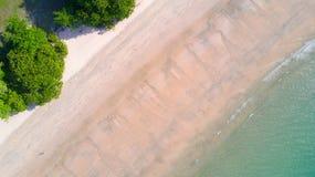 Tropical beach top aerial view Stock Photo