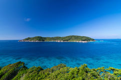 Tropical beach, Top view of Similan Islands, Andaman Sea, Thaila Stock Photography