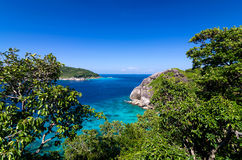 Tropical beach, Top view of Similan Islands, Andaman Sea, Royalty Free Stock Images