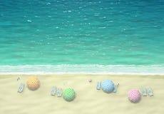 Tropical beach, top view Royalty Free Stock Photos