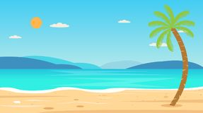 Tropical Beach Travel Holiday Vacation Leisure Nature Concept Royalty Free Stock Images