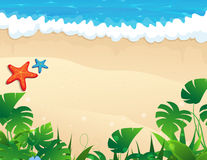 Tropical beach with tropical vegetation Stock Image