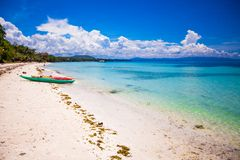 Tropical beach with turquoise water Royalty Free Stock Photo