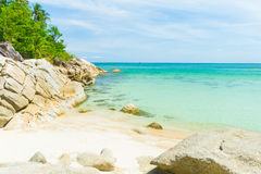 Tropical beach and turquoise water in Thailand Stock Photo