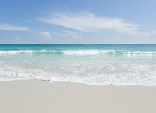 Tropical beach, turquoise water and white sand Royalty Free Stock Photo