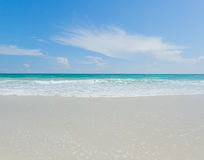 tropical beach, turquoise water and white sand Royalty Free Stock Photos
