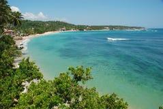 Tropical Beach - Unawatuna bay Royalty Free Stock Images