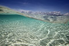Tropical beach underwater view Stock Image
