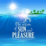 Tropical beach vacation symbol for travel design Royalty Free Stock Images