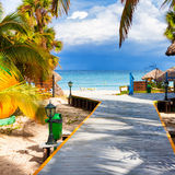 The tropical beach of Varadero in Cuba Royalty Free Stock Photo