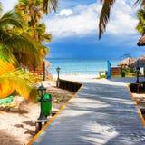 The tropical beach of Varadero in Cuba Royalty Free Stock Photo