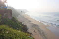 Tropical beach in Varkala Stock Photography