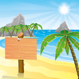 Tropical beach. Royalty Free Stock Image