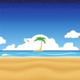 Tropical Beach. Vector illustration of a tropical beach Stock Photo