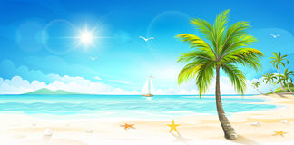 Tropical beach. Vector Stock Image