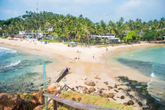 Tropical beach view from observation deck Royalty Free Stock Images