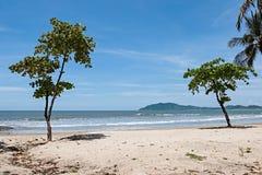 Tropical Beach. View over Tamarindo beach, Costa Rica Pacific Coast stock image