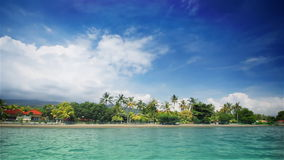Tropical beach. View from water stock footage