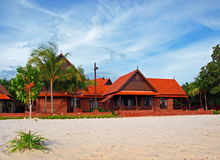 Tropical Beach Villa. Tropical Beach Wood & Brick Traditional styled Villa in Langkawi Island Malaysia Royalty Free Stock Photography