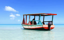 Tropical beach water taxi Royalty Free Stock Photo