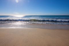 Tropical Beach with Wave Stock Photo