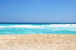 Tropical beach with waves. Tropical beach water with waves royalty free stock photos