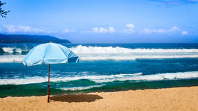 Tropical beach with waves Royalty Free Stock Photo