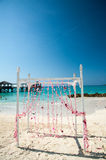 Tropical Beach Wedding Arch Royalty Free Stock Photo
