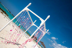 Tropical Beach Wedding Arch Stock Photos