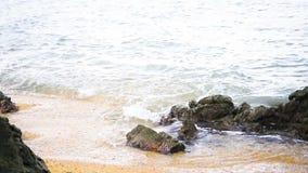 Tropical beach white sand shore in Thailand. Tropical beach white sand shore in Thailand stock footage