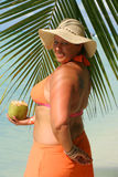 Tropical beach woman Royalty Free Stock Photos